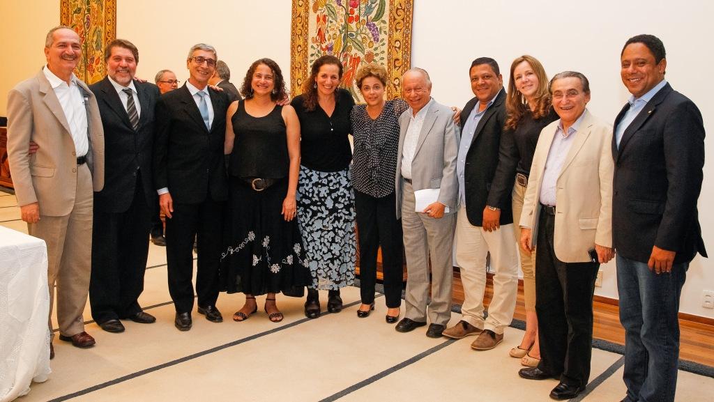 Brasília - DF, 21/09/2015. Presidenta Dilma Rousseff durante jantar com integrantes do PCdoB. Foto: Roberto Stuckert Filho/PR