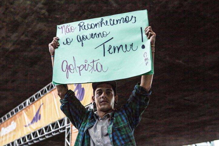 Ato da Frente Brasil Popular em protesto com o governo interino Michel Temer. Data:25/05/2016. Local:São Paulo. Fotógrafo Sérgio Silva.